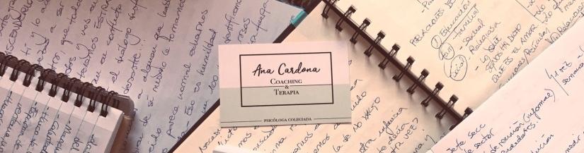 cuadernos escritos artículos ana cardona escritura creativa terapeútica