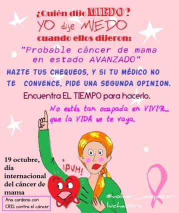 miedo cancer mama ana cardona patau ilustración